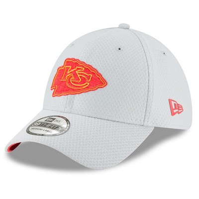 Mens Gray New Era Kansas City Chiefs 2018 NFL Training Camp Official 39THIRTY Flex Hat 3059669