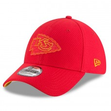 Mens New Era Kansas City Chiefs Red 2018 NFL Training Camp Primary 39THIRTY Flex Hat 3060003