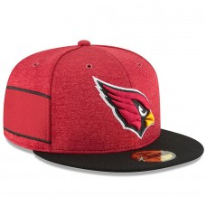 Men's Arizona Cardinals New Era Cardinal/Black 2018 NFL Sideline Home Official 59FIFTY Fitted Hat 3058371