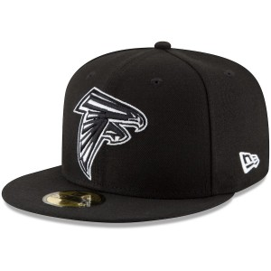 Men's Atlanta Falcons New Era Black B-Dub 59FIFTY Fitted Hat 2513422