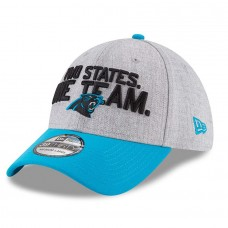 Men's Carolina Panthers New Era Heather Gray/Blue 2018 NFL Draft Official On-Stage 39THIRTY Flex Hat 2979463