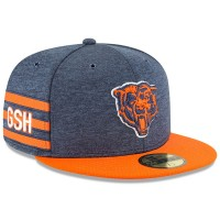 Men's Chicago Bears New Era Navy/Orange 2018 NFL Sideline Home Historic 59FIFTY Fitted Hat 3058381