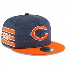 Men's Chicago Bears New Era Navy/Orange 2018 NFL Sideline Home Official 9FIFTY Snapback Adjustable Hat 3058557