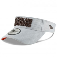 Men's Cleveland Browns New Era Gray 2018 Training Camp Official Visor 3061053