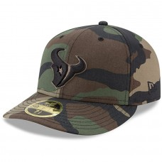 Men's Houston Texans New Era Woodland Camo Low Profile 59FIFTY Fitted Hat 2533970