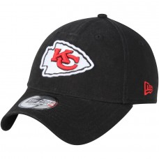 Men's Kansas City Chiefs New Era Black Core Fit 49FORTY Fitted Hat 2787295