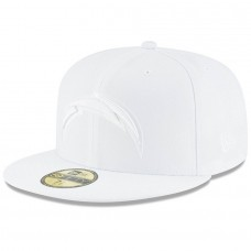 Men's Los Angeles Chargers New Era White on White 59FIFTY Fitted Hat 3154702