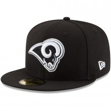 Men's Los Angeles Rams New Era Black B-Dub 59FIFTY Fitted Hat 2513427