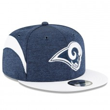 Men's Los Angeles Rams New Era Navy/White 2018 NFL Sideline Home Official 9FIFTY Snapback Adjustable Hat 3058546