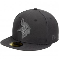 Men's Minnesota Vikings New Era Graphite Tonal League Basic 59FIFTY Fitted Hat 2460853