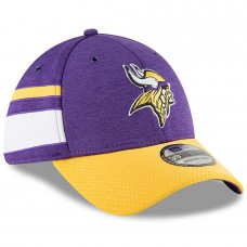 Men's Minnesota Vikings New Era Purple/Gold 2018 NFL Sideline Home Official 39THIRTY Flex Hat 3058225