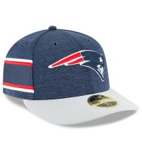 Men's New England Patriots New Era Navy/Gray 2018 NFL Sideline Home Official Low Profile 59FIFTY Fitted Hat 3058487
