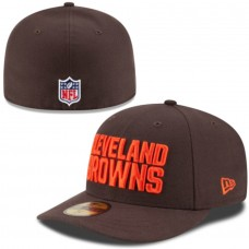 Men's New Era Cleveland Browns Brown On-Field Low Crown 59FIFTY Fitted Hat 2109996