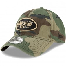 Men's New Era Woodland Camo New York Jets Core Classic 9TWENTY Adjustable Hat 2934465