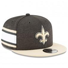Men's New Orleans Saints New Era Black/Gold 2018 NFL Sideline Home Official 9FIFTY Snapback Adjustable Hat 3058542