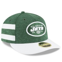 Men's New York Jets New Era Green/White 2018 NFL Sideline Home Official Low Profile 59FIFTY Fitted Hat 3058484