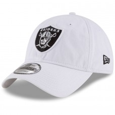 Men's Oakland Raiders New Era White Core Classic 9TWENTY Adjustable Hat 2934440