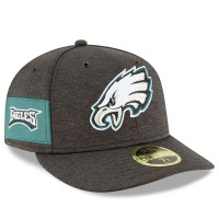 Men's Philadelphia Eagles New Era Black 2018 NFL Sideline Home Official Low Profile 59FIFTY Fitted Hat 3058482