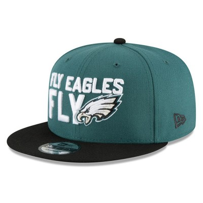 Men's Philadelphia Eagles New Era Green/Black 2018 NFL Draft Spotlight 9FIFTY Snapback Adjustable Hat 2980643