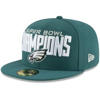 Men's Philadelphia Eagles New Era Midnight Green Super Bowl LII Champions 59FIFTY Fitted Hat 3095851