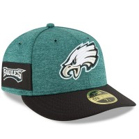 Men's Philadelphia Eagles New Era Midnight Green/Black 2018 NFL Sideline Home Official Low Profile 59FIFTY Fitted Hat 3058481