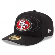 Men's San Francisco 49ers New Era Black 2016 Sideline Official Low Profile 59FIFTY Fitted Hat 2419683
