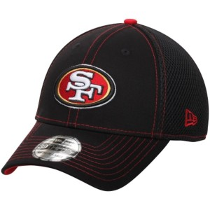 Men's San Francisco 49ers New Era Black Crux Line Neo 39THIRTY Hat 2111228
