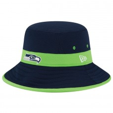 Men's Seattle Seahawks New Era College Navy Fan Training Camp Reverse Bucket Hat 2062098