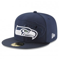 Men's Seattle Seahawks New Era Navy 2016 Sideline Official 59FIFTY Fitted Hat 2419613