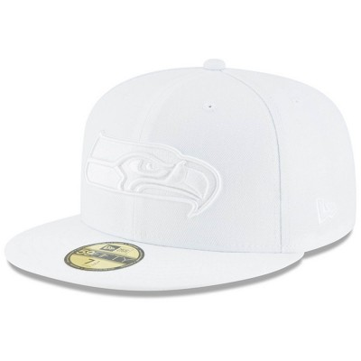 Men's Seattle Seahawks New Era White on White 59FIFTY Fitted Hat 3154709