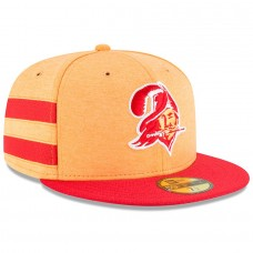 Men's Tampa Bay Buccaneers New Era Orange/Red 2018 NFL Sideline Home Historic 59FIFTY Fitted Hat 3058376