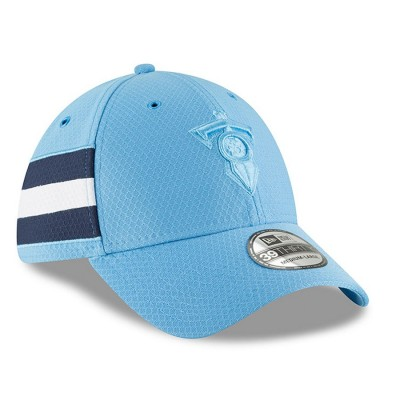 Men's Tennessee Titans New Era Powder Blue 2018 NFL Sideline Color Rush Official 39THIRTY Flex Hat 3062617