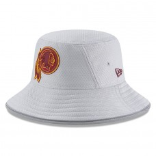 Men's Washington Redskins New Era Gray 2018 Training Camp Official Bucket Hat 3060968
