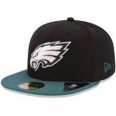 New Era Philadelphia Eagles Black/Midnight Green 59FIFTY Fitted Hat 1019851