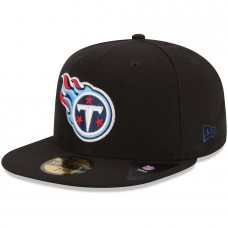 New Era Tennessee Titans Black 59FIFTY Fitted Hat 1019858