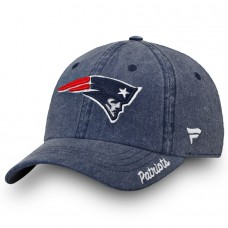 Women's New England Patriots NFL Pro Line by Fanatics Branded Navy Timeless Fundamental Adjustable Hat 2855837