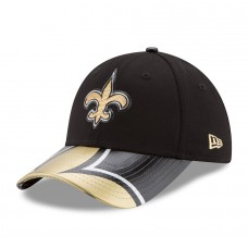 Women's New Orleans Saints New Era Black 2017 NFL Draft On Stage 9FORTY Adjustable Hat 2646498