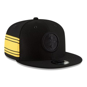Youth Pittsburgh Steelers New Era Black 2018 NFL Sideline Color Rush 9FIFTY Snapback Adjustable Hat 3063028