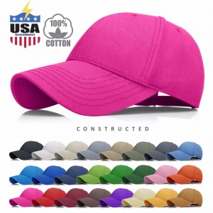 Constructed Cotton Baseball Cap Hat Adjustable Polo Style s Solid s  eb-85839854