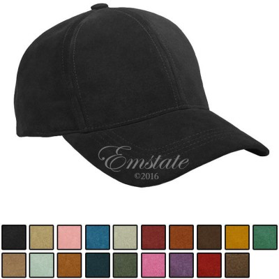 Emstate Genuine Suede Leather Baseball Cap Many Colors Made in USA  eb-46463633