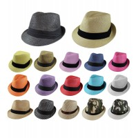 Gelante Unisex Summer Fedora Panama Straw Hats with Band (Ship in a BOX)  eb-96616365