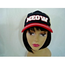 Mujers MEOW Baseball Cap Infinity Headwear Beige Red White Blue Adjustable VGC  eb-21865548