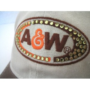 NEW 's adjustable A&W Root beer Cap Casual Hat Cotton rhinestones 622583555960 eb-79632890
