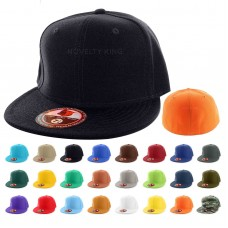 Plain Fitted Flat Bill Cap Visor Baseball Basic New Blank Solid Hat Sport Colors  eb-16834627