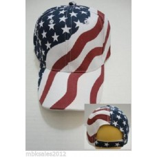 12pc AMERICAN FLAG Baseball Caps STARS STRIPES Curved Bill  WHOLESALE LOT Hats   eb-97893237