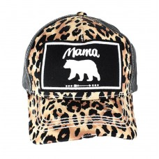 Adjustable Cheetah Leopard Mama Bear Arrow Distressed Hat Cap Black Brown  eb-43501786