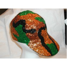 CAMOUFLAGE BASEBALL HAT CAP SEQUIN GLITZY MATCHES MILITARY COLORS CUTE GIFT NEW   eb-16165639