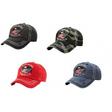 God Bless America Flag USA Patriotic July 4 Eagle Baseball Hat Cap Hombres Mujers  eb-31258364