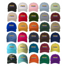 PRIDE BLOCK Low Profile Rainbow Embroidered Baseball Cap  Many Styles  eb-55013585