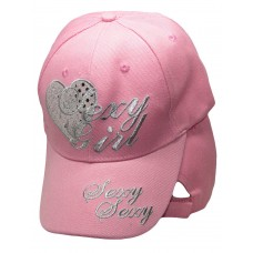 Sexy Girl Pink Heart Ladies Woman Embroidered Cap Hat RAM  eb-78359528